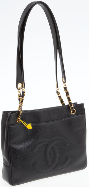 62694226f7996 Chanel Black Caviar Leather Tote Bag . ... Luxury Accessories Bags ...