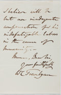 """Autographs:Authors, W. C. Trevelyan. Autograph Letter Signed, """"W. C. Trevelyan"""", April 22, 1870, two pages on one bifolium, personal stationery...."""