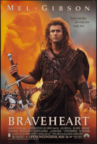 """Braveheart (Paramount, 1995). One Sheets (2) (27"""" X 40"""") DS Advance, Two Styles. Action. ... (Total: 2 Items)"""