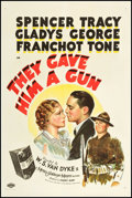 """Movie Posters:Crime, They Gave Him a Gun (MGM, 1937). One Sheet (27"""" X 41"""") Style D.Crime.. ..."""