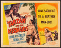 "Movie Posters:Adventure, Tarzan and the Mermaids (RKO, 1948). Half Sheet (22"" X 28""). StyleB. Adventure.. ..."