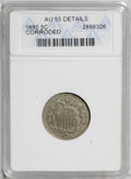 Shield Nickels: , 1880 5C --Corroded--ANACS. AU55 Details. The 1880 is the keybusiness strike issue of the series. This slate-gray example sh...