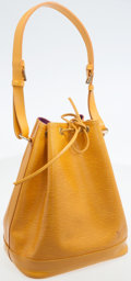 Luxury Accessories:Bags, Louis Vuitton Yellow Epi Leather Noe Shoulder Bag. ...