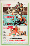 "Movie Posters:James Bond, Thunderball (United Artists, 1965). One Sheet (27"" X 41""). JamesBond.. ..."
