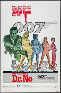 "Dr. No (United Artists, R-1980). One Sheet (27"" X 41""). James Bond"