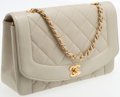 Luxury Accessories:Bags, Chanel Crème Lambskin Leather Large Single Flap Bag with GoldHardware. ...