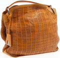 Luxury Accessories:Bags, Akris Light Brown Leather Woven XL Allegra Hobo Bag. ...