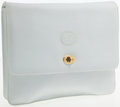 Luxury Accessories:Bags, Gucci Large White Leather Clutch with Shoulder Strap. ...