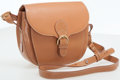 Luxury Accessories:Bags, Bally Light Brown Leather Classic Saddle Cross Body Bag. ...