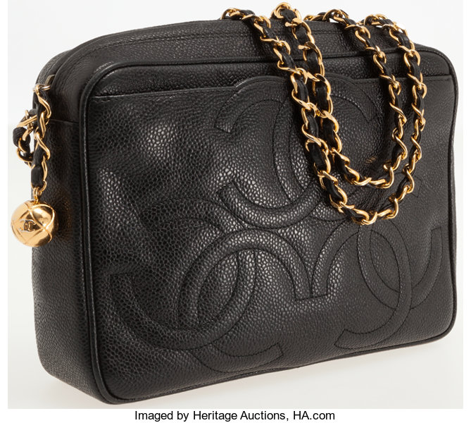 7d285969338c5e Luxury Accessories:Bags, Chanel Black Caviar Leather Large Camera Bag with  Gold Hardware.