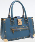 Luxury Accessories:Bags, Louis Vuitton Blue Suhali Leather Le Fabuleux Shoulder Bag. ...