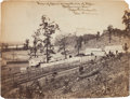 "Photography:Official Photos, ""View of Corral on north side of River / Chattanooga, Tenn. / Robert W. Wetherell / Capt. and A. Q. M. "" Also small ink script..."