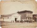 """Photography:Official Photos, """"U. S. Office and Storehouse Market Street / Chattanooga, Tenn. /Robt. W. Wetherell / Capt. and A. Q. M. Vols. and on the bu..."""