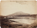 """Photography:Official Photos, """"View of U. S. Corral South side of River / Chattanooga, Tenn. /Robert. W. Wetherell / Capt and A. Q. M. Vols...."""