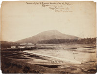 """View of U. S. Corral South side of River / Chattanooga, Tenn. / Robert. W. Wetherell / Capt and A. Q. M. Vols"