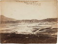"""Photography:Official Photos, """"U. S. Corral Nr 2 south side of River / Chattanooga, Tenn. / Capt. Robt. Wetherell / A. Q. M. Vols.""""..."""
