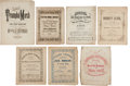 Miscellaneous:Ephemera, Group of (7) Sets of Southern Sheet Music.... (Total: 7 )