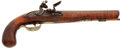 Military & Patriotic:Revolutionary War, 18th Century American Curly Maple Stock Original FlintlockPistol...