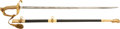 Edged Weapons:Swords, U.S. Model 1852 Naval Officers' Sword Donated to the Navy Relief Fund Auction by Fleet Admiral Ernest J. King With Accompanyi...