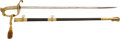 Edged Weapons:Swords, U.S. Model 1852 Naval Officers' Sword Donated to the Navy Relief Fund Auction by Fleet Admiral William D. Leahy With Accompany...