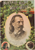 Western Expansion:Cowboy, Buffalo Bill Wild West: 1887 Program for English Tour....