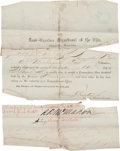 Miscellaneous:Ephemera, [Civil War]. Augustine Bare Military Documents... (Total: 4 )