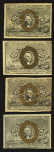 Fractional Currency:Second Issue, Fr. 1283 25¢ Second Issue About New;. Fr. 1284 25¢ Second Issue Fine;. Fr. 1285 25¢ Second Issue About New;. Fr. 1... (Total: 4 notes)