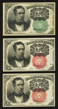 Fractional Currency:Fifth Issue, Fr. 1264 10¢ Fifth Issue Choice New;. Two Fr. 1266 10¢ Fifth IssueNotes Choice New.. ... (Total: 3 notes)