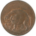 Colonials, (1694) TOKEN London Elephant Token, Thick Planchet MS65 Red andBrown PCGS. Hodder 2-B, W-12040, R.2....