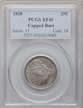 Bust Quarters: , 1838 25C XF45 PCGS. PCGS Population (36/110). NGC Census: (19/132).Mintage: 366,000. Numismedia Wsl. Price for problem fre...
