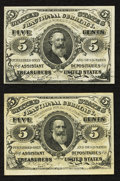Fractional Currency:Third Issue, Fr. 1238 5¢ Third Issue Choice New;. Fr. 1239 5¢ Third Issue Choice New.. ... (Total: 2 notes)