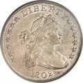 Early Dollars, 1802 $1 Narrow Date AU55 PCGS. B-6, BB-241, R.1....
