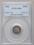 Seated Half Dimes: , 1842 H10C MS62 PCGS. PCGS Population (19/80). NGC Census: (18/98).Mintage: 815,000. Numismedia Wsl. Price for problem free...