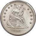 Seated Quarters, 1861 25C MS66 PCGS....