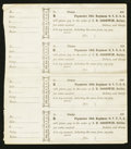 Obsoletes By State:Ohio, 59th Regiment- O.V.U.S.A. Sutler Scrip/J.B. Goodwin WrittenDenominations 186_ Uncut Sheet of Four Keller OH-PC. ...