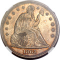 Seated Dollars, 1865 $1 MS60 NGC....