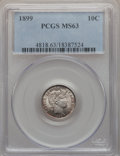 Barber Dimes: , 1899 10C MS63 PCGS. PCGS Population (69/130). NGC Census: (70/136).Mintage: 19,580,846. Numismedia Wsl. Price for problem ...