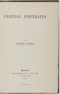 Books:Literature Pre-1900, Henry James. Partial Portraits. London: Macmillan, 1888.First edition. Octavo. Four pages publisher's ads in re...