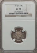 Barber Dimes: , 1913-S 10C XF40 NGC. NGC Census: (3/102). PCGS Population (6/159).Mintage: 510,000. Numismedia Wsl. Price for problem free...