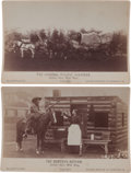 Photography:Cabinet Photos, Two Cabinet Photos, Covered Wagon and Cabin.... (Total: 2 Items)