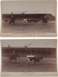 "Photography:Cabinet Photos, Two Cabinet Photos, ""Ropeing Steers"" (sic). ... (Total: 2 Items)"