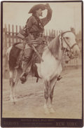 Photography:Cabinet Photos, Cabinet Photo of Buffalo Bill on Horseback. ...