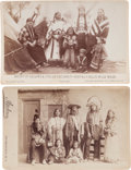 Photography:Cabinet Photos, Two Cabinet Photos, John Y. Nelson Family and Indian Women and Children. ... (Total: 2 Items)
