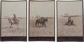 Photography:Cabinet Photos, Three Cabinet Photos, Buck Taylor in the Arena.... (Total: 3 Items)