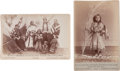 Photography:Cabinet Photos, Two Cabinet Photos, Indian Women and Children, and Red Rose....(Total: 2 Items)