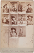 Photography:Cabinet Photos, Cabinet Photo, Sampler with Annie Oakley and Buck Taylor. ...