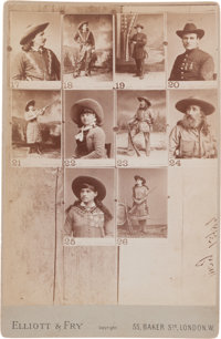Cabinet Photo, Sampler with Annie Oakley and Buck Taylor