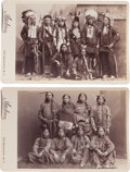 Photography:Cabinet Photos, Pair of Cabinet Photos, Indian Groups. ... (Total: 2 Items)