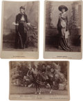 Photography:Cabinet Photos, Three Cabinet Photos, Lady Riders. ... (Total: 3 Items)