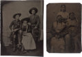 Photography:Tintypes, Two Tintypes, One Picturing Johnny Baker. ... (Total: 2 Items)